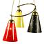 Indexbild 1 - Pendel Leuchte Sputnik Orbit Lochblechtüten Hänge Lampe Vintage 50er Jahre