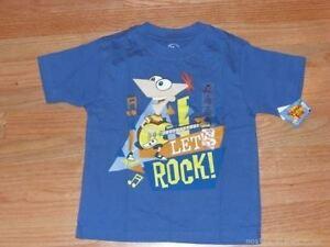 Ferb Maglietta T Phineasamp; Ragazzi Nuovo Disney Store Let's Rock 13lFKTJcu