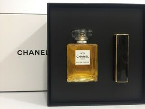 CHANEL No 5 PERFUME FOR WOMEN 2 PC GIFT SET EDP SPRAY 3.4 oz + 0.7 ... 6fd0ed63a