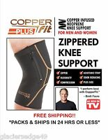 & Original Copper Fit Plus Zippered Knee Support Sleeve L & Xxl Sizes