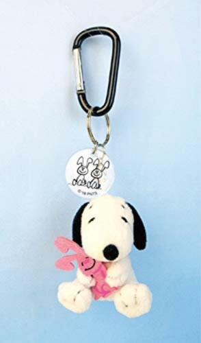PEANUTS Snoopy /& Rabbit Mini Plush Mascot with Carabiner F//S w//Tracking# Japan
