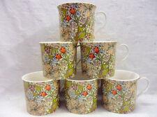Set of 6 William Morris golden lilly china palace mugs