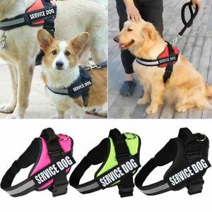 Service-Dog-Vest-Harness-Adjustable-Patches-Reflective-Small-Large-Medium-XS-XXL