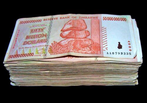 30 x Zimbabwe 50 Billion Dollar banknotes-AA//AB 2008//circulated currency