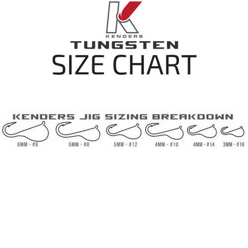 10 Pack Tungsten Jigs Bright UV TOP QUALITY Kenders Outdoors CHOOSE YOUR SIZE!
