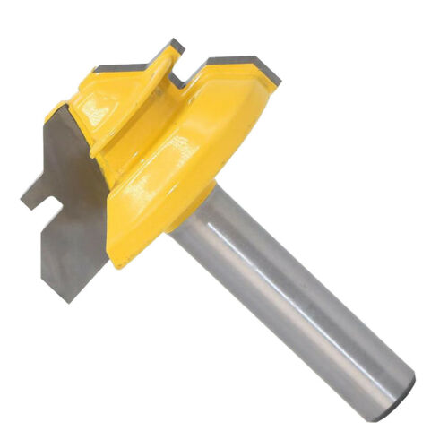 """45° 8mm Shank 1-3//8/"""" Dia Lock Miter Router Bits For Woodworking Cutter"""
