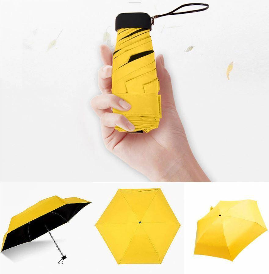 Mini Pocket fold Umbrella UV Compact 180g Waterproof & Convenient For Travelling