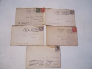 LOT OF 23 (1917 - 1918) STAMPED COVERS ENVELOPES WITH LETTERS - WOW! - TUB B