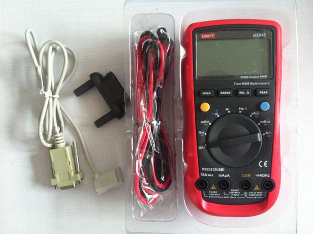 UNI-T UNIT UT-61E UT61E Digital Handheld Mutimeter Tester DMM AC DC Volt Ohm Frq