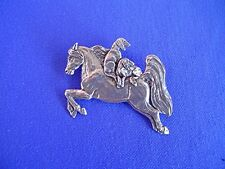 Saluki Catching a Ride pin #15P Pewter Hound Dog Jewelry by Cindy A. Conter