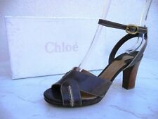 orig CHLOÉ CHLOE Gr 37 Sandaletten Heels Schuhe Shoes mokka braun neu UVP 365 €