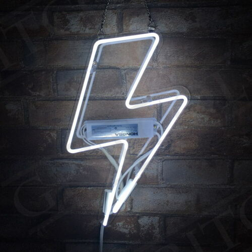Thunder Shape Neon Sign Light Bar Beer Vintage Night Club Home Decor Handmade