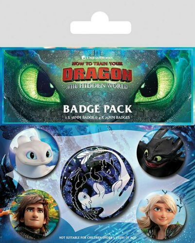 Dragons 3 pack 5 badges Familiar Faces how to train your dragon badge pack 80652