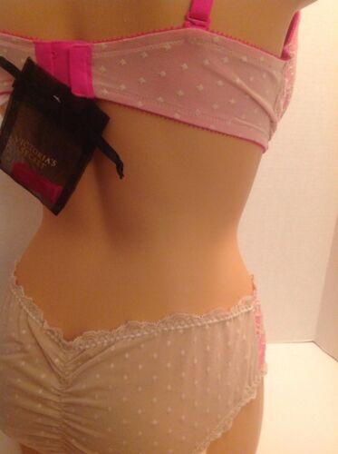 Victorias Secret Angel Fantasies Push Up Bikini Pink Beige NWT Crystals $86 LTD