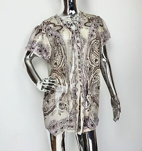 Etro 46 Sheer Floral Paisley Blouse
