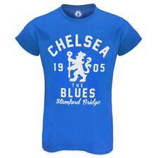 20e1f30f Chelsea FC Official Soccer Ladies Glitter Print T-Shirt - Royal Blue Size 12