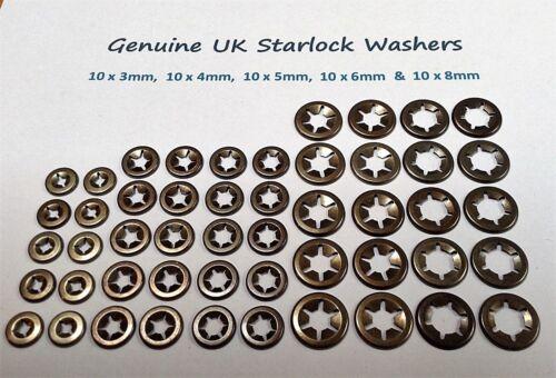 Starlock Internal Tooth Star Nut  Push On Locking Washers Fastener Clips