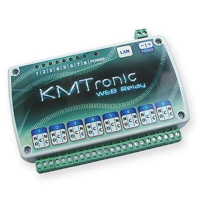 KMTronic LAN IP 8 Rele Controller Internet Ethernet WEB BOX