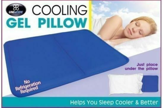 2 x Cooling Gel Pillow Insert Cool Gel Mat Cushion Seat Bed Sofa Pain Relief