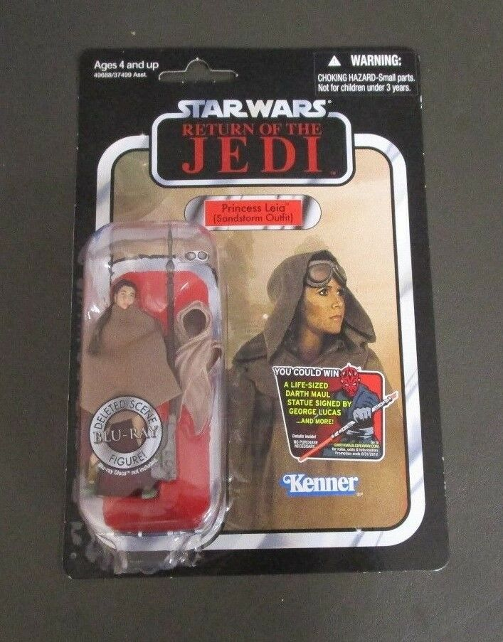 PRINCESSE LEIA SANDSTORM OUTFIT 2012 STAR WARS Collection Vintage VC88 Comme neuf on Card