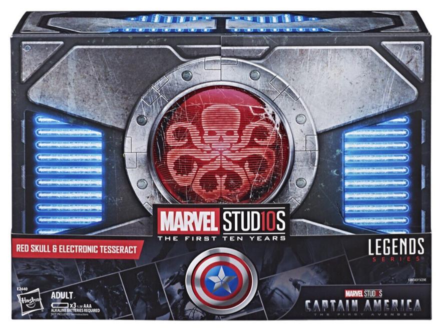 Marvel - legenden sdcc exklusive rot skull & tesserakt replica box