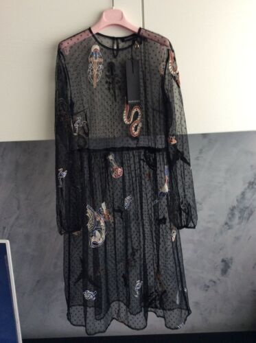 Donna Taglia Nylon In S Vestito m Nere Mangano Colore B4nw7Z6q5x
