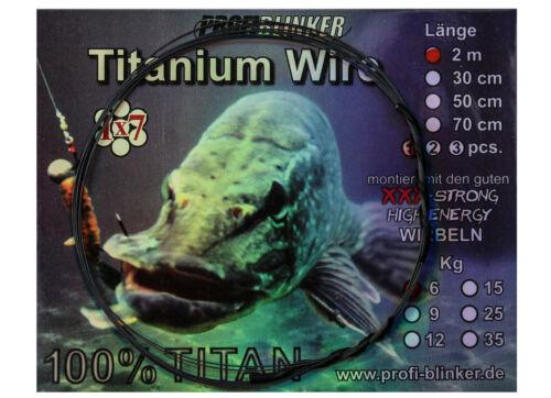 Profi Blinker Titan Vorfach Titanium Wire 1 x 7 Geflecht Hecht Zander