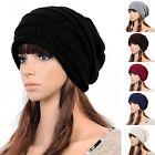 Fashion Winter Unisex Women Slouch Cap Plicate Baggy Beanie Knit Crochet Ski Hat