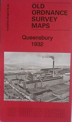 Old Ordnance Survey Maps Historic Town of Queensbury Yorkshire 1932 S216.09 New