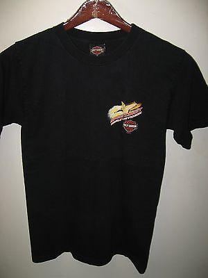Space Coast Harley Davidson Motorcycle Melbourne Florida USA Rocket T Shirt Med