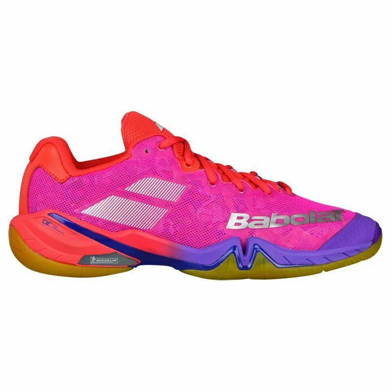 Babolat 2018 Womens Shadow Tour Badminton shoes (Red Pink Purple)