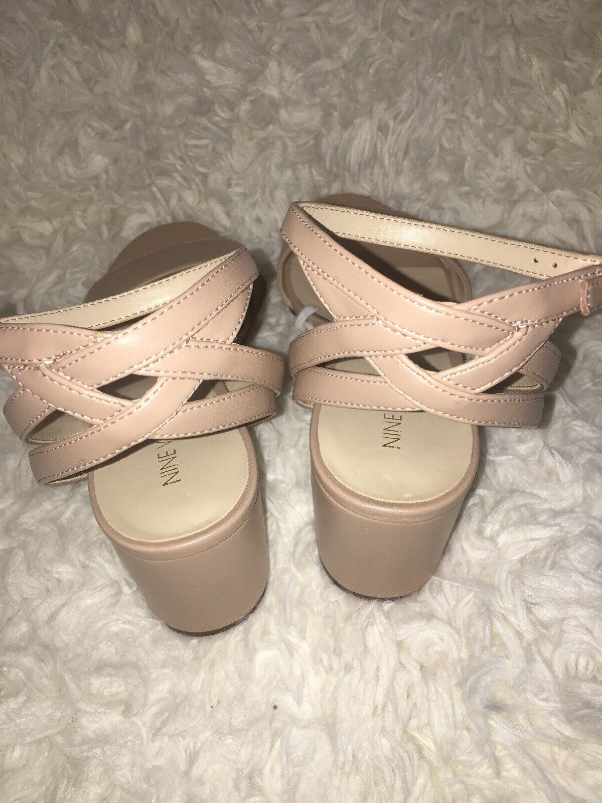 Nine West Galletto Faux Taupe leather Ankle Strap Sandals Taupe Faux sz us 9 66bbf6
