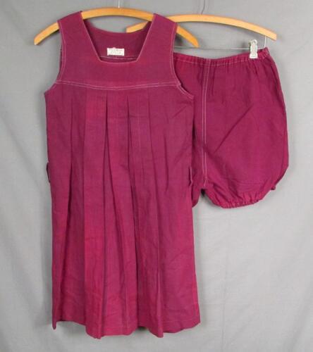 Vintage 1930s Eva S.Moore Purple Gabardine Athleti