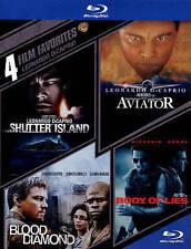 Leonardo DiCaprio: 4 Film Favorites (Blu-ray Disc, 2014, 4-Disc Set) New