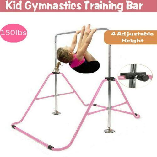 Folding Gymnastics Horizontal Bar Kids Training Bars Expandable Gymnastic US AA