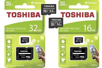 32gb 16gb Toshiba Microsdhc Scheda Di Memoria M203 Con Sd-adattatore Uhs-i Class 10- Design Accattivanti;