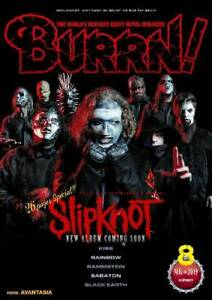 BURRN-August-2019-Hard-Rock-Heavy-Metal-Magazine-Japan-SLIPKNOT-Kiss-Rainbow