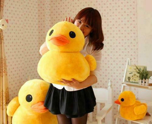 Plush Yellow Rubber Duck Toys Stuffed Animal Cushion Soft Doll Pillow Decor 20cm
