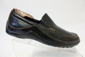 COLE-HAAN-Tucker-Venetian-Black-Sz-9-M-Men-Leather-Driving-Moccasin-Loafers