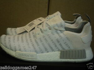 8583aab885151 ADIDAS NMD R1 3 STRIPES WHITE SOLID GREY SIZE UK 8   9   US 8.5 ...
