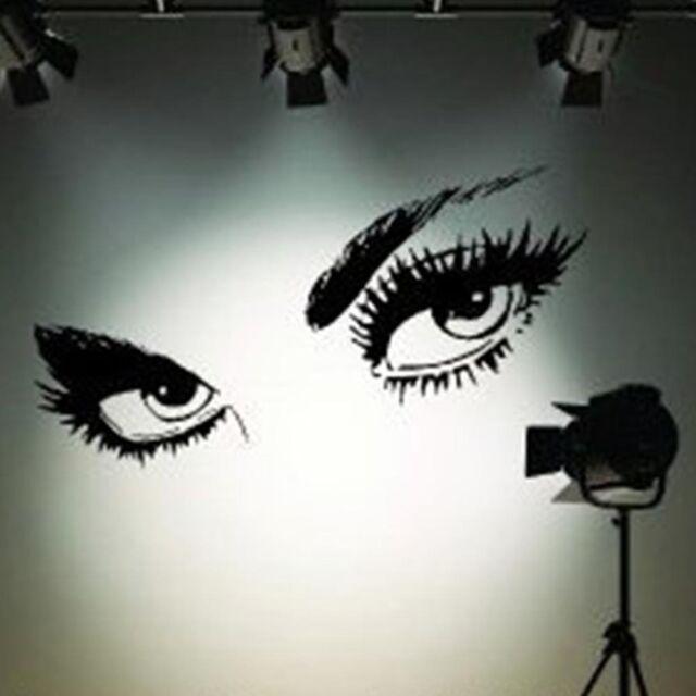 Wandtattoo Augen  Premium Augen Eyes Sticker Wohnzimmer Studio Design Bild XXL