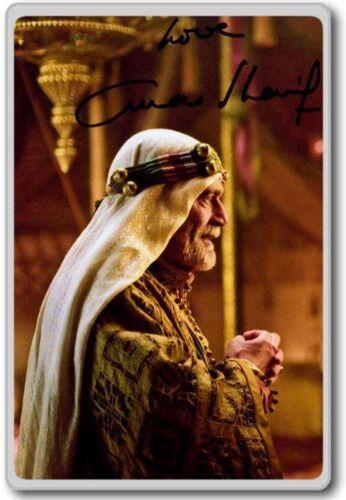 Omar Sharif Autographed Preprint Signed Photo Fridge Magnet