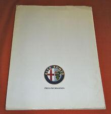 Alfa Romeo 164/Spider & Spider Veloce Press Kit