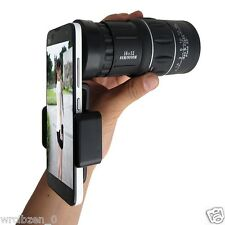 16x52 Hiking Camera Lens Telescope Monocular +41mm Universal Clip For Smartphone