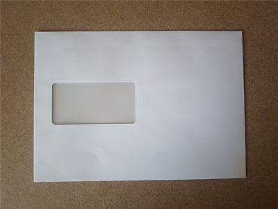 1-400 Versandtaschen C5 Weiß Umschlag Umschläge Für A5 Haftklebend Mit Fenster