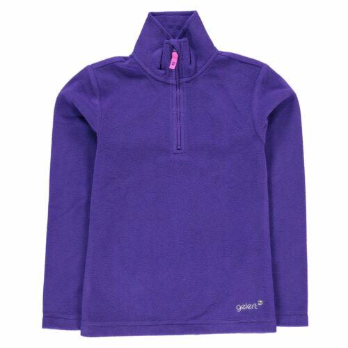 Gelert Kids Girls Atlantis Fleece Junior Quarter Zip Top Sweatshirt Jumper Long