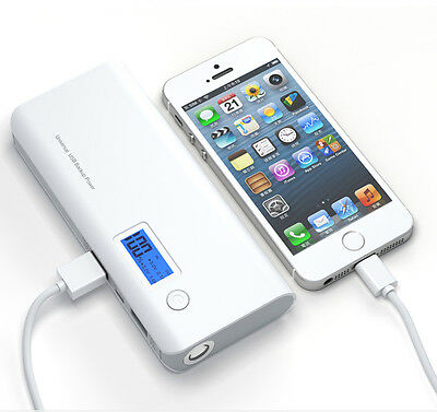 50000mAh External Power Bank Backup Portable LCD Battery Charger For Phone Grey