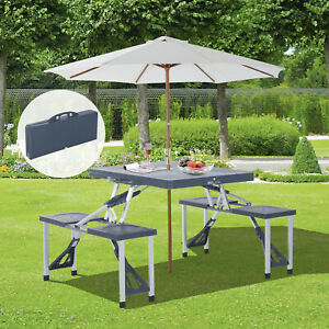 Outsunny-Folding-Picnic-Table-Chair-Set-Camping-Aluminium-Frame-w-Suitcase