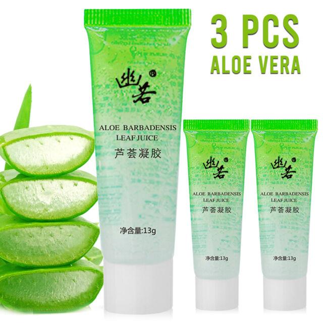 3 Pcs Aloe Vera Gel For Face & Body Moisturizer Skincare 13g