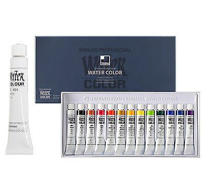 Shinhan Watercolors Artist Professional Paint Tubes Set 13 Colors 7.5ml Each